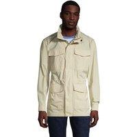 Four Pocket Military Jacket, Men, Size: 42-44 Regular, Ivory, Polyester, by Lands' End