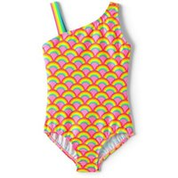 Sport Swimsuit, Kids, Size: 10-11 yrs Kids, Pink, Spandex, by Lands' End