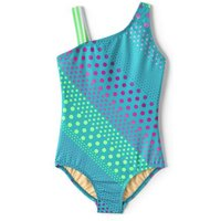 Sport Swimsuit, Kids, Size: 4 yrs Kids, Blue, Spandex, by Lands' End