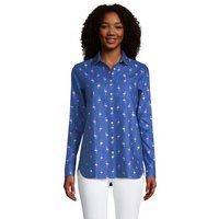 Long Sleeve Peter Pan Collar Oxford Shirt, Women, Size: 16-18 Petite, Blue, Cotton, by Lands' End