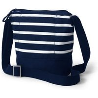 Canvas Cross Body Bucket Bag, Women, Blue, Cotton, by Lands' End