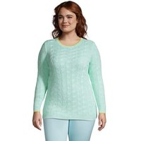 Cotton Drifter Crew Neck Jumper, Women, Size: 28-30 Plus, Green, by Lands' End