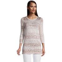 Cotton Blend Boatneck Sweater, Women, Size: 16-18 Regular, Pink, by Lands' End