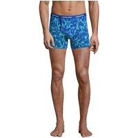 Jersey Trunks, Men, Size: 40-42 Regular, Blue, Cotton-blend, by Lands' End.