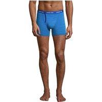 Jersey Trunks, Men, Size: S Regular, Blue, Cotton-blend, by Lands' End.