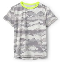 Performance Tee, Kids, Size: 10-12 yrs Kids, Grey, Poly-blend, by Lands' End