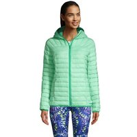 ThermoPlume Packable Hooded Jacket, Women, Size: 10-12 Regular, Green, Nylon, by Lands' End
