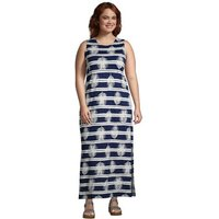 Cotton Jersey Sleeveless Cover-up Maxi Dress, Women, Size: 20-22 Plus, Blue, by Lands' End
