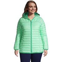 ThermoPlume Packable Hooded Jacket, Women, Size: 24-26 Plus, Green, Nylon, by Lands' End