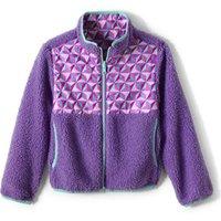 Reversible Fleece Jacket, Kids, Size: 14 yrs Kids, Purple, Polyester, by Lands' End