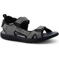 Water Sandals, Men, Size: 9 Regular, Grey, Polyester, by Lands' End