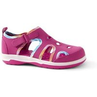 Closed Toe Water Sandals, Kids, Size: 2 Kid, Pink, Rubber, by Lands' End.