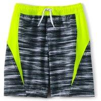 Active Swim Shorts, Kids, Size: 6-7 yrs Kids, Black, Spandex, by Lands' End