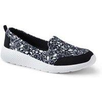 Gatas Comfort Slip On Shoes, Women, Size: 5.5 Regular, Black, Polyester, by Lands' End