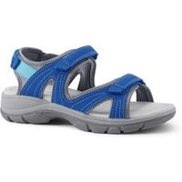 Everyday Sandals, Women, Size: 8 Wide, Blue, Polyester, by Lands' End