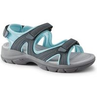 Everyday Sandals, Women, Size: 9 Regular, Grey, Polyester, by Lands' End