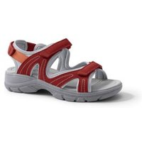 Everyday Sandals, Women, Size: 7 Wide, Red, Polyester, by Lands' End