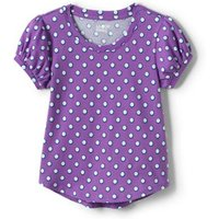 Puff Sleeve Top, Kids, Size: 4-5 yrs Kids, Purple, Cotton, by Lands' End