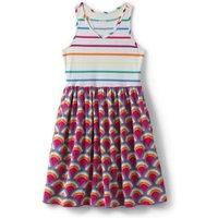 Sleeveless V-neck Jersey Dress, Kids, Size: 14 yrs Kids, White, Cotton, by Lands' End