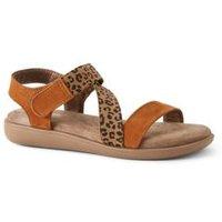 Comfort Sandals, Women, Size: 7.5 Regular, Leather, by Lands' End