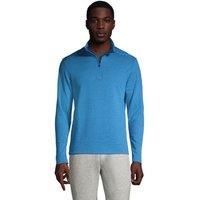 Cotton Half Zip Top, Men, Size: 50-52 Regular, Blue, by Lands' End