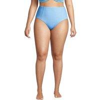 Chlorine Resistant Retro Bikini Bottoms, Women, Size: 22 Plus, Blue, Nylon-blend, by Lands' End