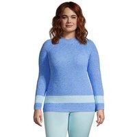 Drifter Shaker Jumper, Women, Size: 24-26 Plus, Blue, Cotton, by Lands' End