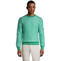 Drifter Cotton Jumper, Men, Size: 34 - 36 Regular, Green, by Lands' End