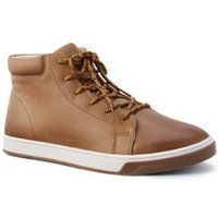 Leather Trainer Boots, Men, Size: 9.5 Regular, Tan, by Lands' End