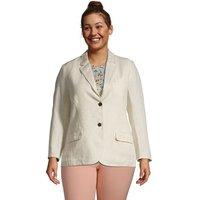 Pure Linen Jacket, Women, Size: 20-22 Plus, Tan, by Lands' End