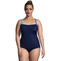 Chlorine Resistant Cross Back Swimsuit, Women, Size: 22 Plus, Blue, Poly-blend, by Lands' End