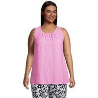 Sleeveless Linen Top, Women, Size: 24-26 Plus, Pink, by Lands' End