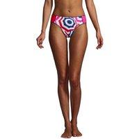 Chlorine Resistant Mid Waist Bikini Bottoms, Women, Size: 8 Regular, Red, Poly-blend, by Lands' End