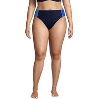 Chlorine Resistant Mid Waist Bikini Bottoms, Women, Size: 28 Plus, Blue, Poly-blend, by Lands' End