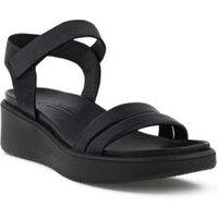 ECCO Flowt Wedge LX Sandals, Women, Size: 6.5-7 Regular, Black, Leather, by Lands' End