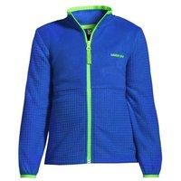 Grid Fleece Jacket, Kids, Size: 10-12 yrs Kids, Blue, Polyester, by Lands' End