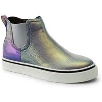 Zip Trainer Boots, Kids, Size: 1 Medium, Blue, by Lands' End