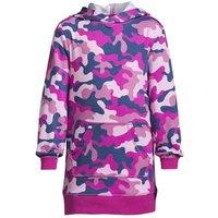 Long Sleeve Hooded Sweatshirt Dress, Kids, Size: 8-9 yrs Kids, Purple, Cotton-blend, by Lands' End