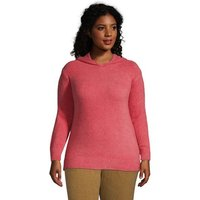 Slounge Hooded Jumper, Women, Size: 28-30 Plus, Red, Poly-blend, by Lands' End
