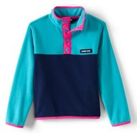 Lightweight Fleece Top, Kids, Size: 8-9 yrs Kids, Blue, Polyester, by Lands' End