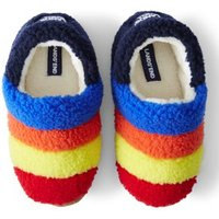 Sherpa Fleece Bootie Slippers, Kids, Size: 2 Medium, Polyester, by Lands' End