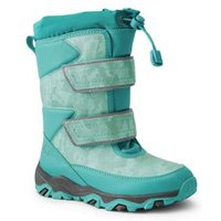 Snow Flurry Insulated Winter Boots, Kids, Size: 9 Medium, Green, by Lands' End.