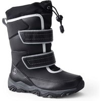 Snow Flurry Insulated Winter Boots, Kids, Size: 1 Medium, Black, by Lands' End