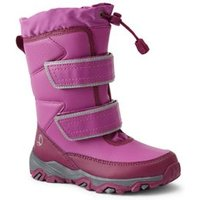 Snow Flurry Insulated Winter Boots, Kids, Size: 1 Medium, Purple, by Lands' End.