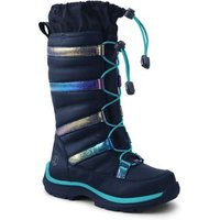 Snowflake Insulated Winter Boots, Kids, Size: 2 Medium, Blue, by Lands' End.