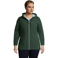 Hooded Softshell Jacket, Women, Size: 28-30 Plus, Green, Spandex, by Lands' End