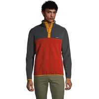 Midweight Fleece Top, Men, Size: 38-40 Regular, Orange, Polyester, by Lands' End