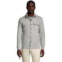 Quilted Shirt Jacket, Men, Size: 46-48 Regular, Grey, Cotton-blend, by Lands' End