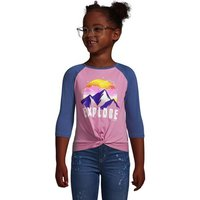 Quarter Length Sleeve Graphic Tee, Kids, Size: 6-7 yrs Kids, Cotton, by Lands' End