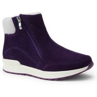 Insulated Winter Boots, Women, Size: 7.5 Regular, Purple, Rubber, by Lands' End